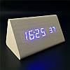 Настольные электронные часы под дерево VST-861 с будильником, датой и термометром, фото 10