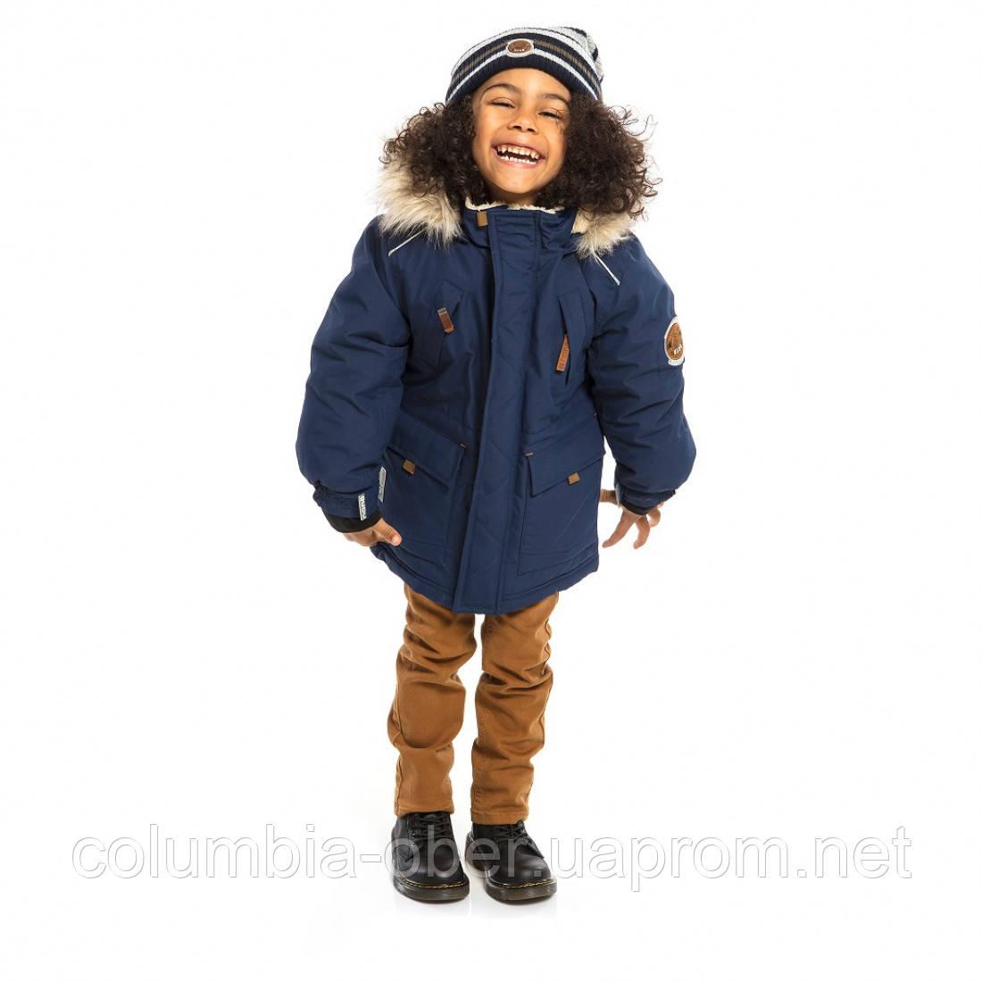 Зимняя куртка - парка для мальчика NANO F19M1301 Navy. Размеры 2 - 14 лет.