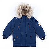 Зимняя куртка - парка для мальчика NANO F19M1301 Navy. Размеры 2 - 14 лет., фото 2
