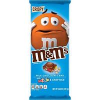 """Шоколад M&M's """"Криспи"""" молочный с хрустящими рисовыми шариками и разноцветными драже, 150 грамм"""