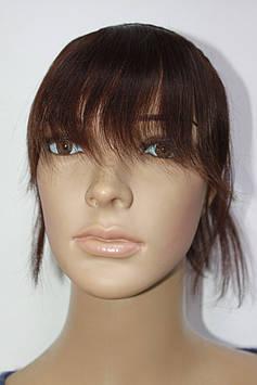 Натуральная накладка на волосы на обруче светло коричневый
