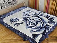 Плед акриловый двухспальный Большая роза (Solaron)