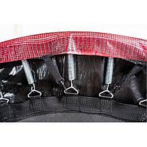 Батут Atleto 404 см с двойными ногами с сеткой красный (2 места), фото 2