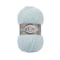 Плюшевая пряжа Ализе софти плюс Alize Softy Plus водяная зелень 15