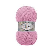 Плюшевая пряжа Ализе софти плюс Alize Softy Plus розового цвета 185