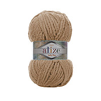 Плюшевая пряжа Ализе софти плюс Alize Softy Plus бежевого цвета 199
