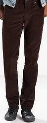 Вельветовые брюки Levis 511 - Black Coffee