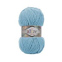 Плюшевая пряжа Ализе софти плюс Alize Softy Plus светло бирюзового цвета 199