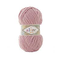 Плюшевая пряжа Ализе софти плюс Alize Softy Plus розового цвета 259