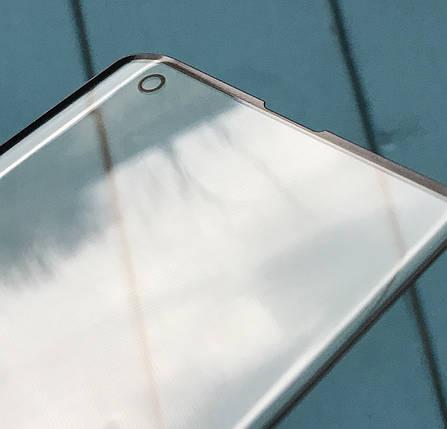 Стекло дисплея для Samsung G973 Galaxy S10 черное, фото 2