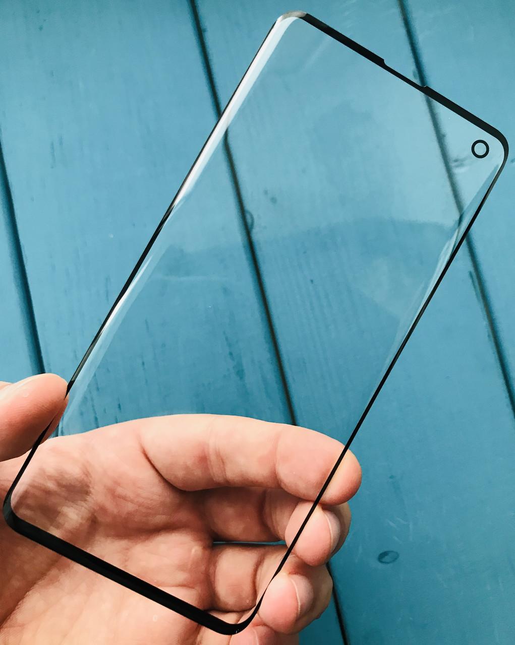 Стекло дисплея для Samsung G973 Galaxy S10 черное