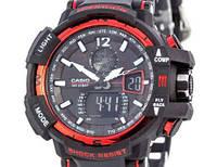 Мужские наручные часы Casio G-Shock 3 черно-красные, таймер/секундомер, кварцевые, часы G-SHOCK
