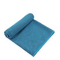 Охлаждающее полотенце Cooling Towel LiveUp голубой, размер 30х100 см, полотенце для спорта, охлаждающие полотенца