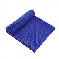 Охлаждающее полотенце LiveUp Cooling Towel темное-синие, полиэстер, размер 30х80см, спортивное полотенце