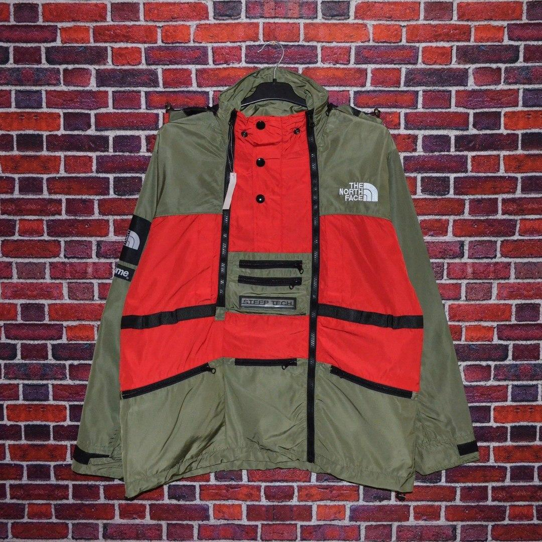 Куртка Supreme x The North Face SteepTech Red/Haki