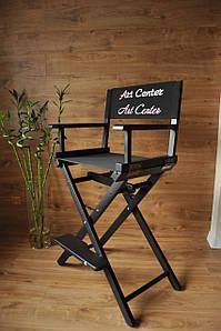 Стілець визажный, стілець для візажиста складаний, чорний стілець з ясена