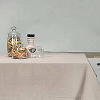 """Скатерть """"Жаккард"""" однотонная светло-серая ТМ Вилюта 180х150"""