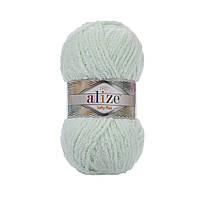 Плюшевая пряжа Ализе софти плюс Alize Softy Plus мятного цвета 464