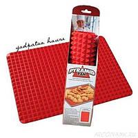 Силиконовый коврик для готовки Pyramid Pan D1041 размер 41х29см, красный, силиконовый коврик, силиконовый коврик пирамидки