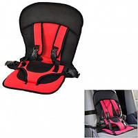 Детское бескаркасное автокресло Multi Function Car Cushion NY-26 красный, от 10 месяцев до 5 лет,