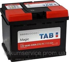 Аккумулятор автомобильный TAB Magic 66AH R+ 640A (189065)