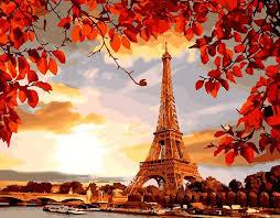 Картина по номерам осенний Париж