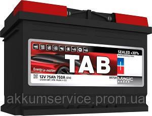 Акумулятор автомобільний TAB Magic 75AH R+ 720A (189080s)