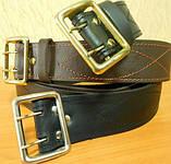 Ремни офицерские кожаные, 85 - 145 см на выбор, фото 2