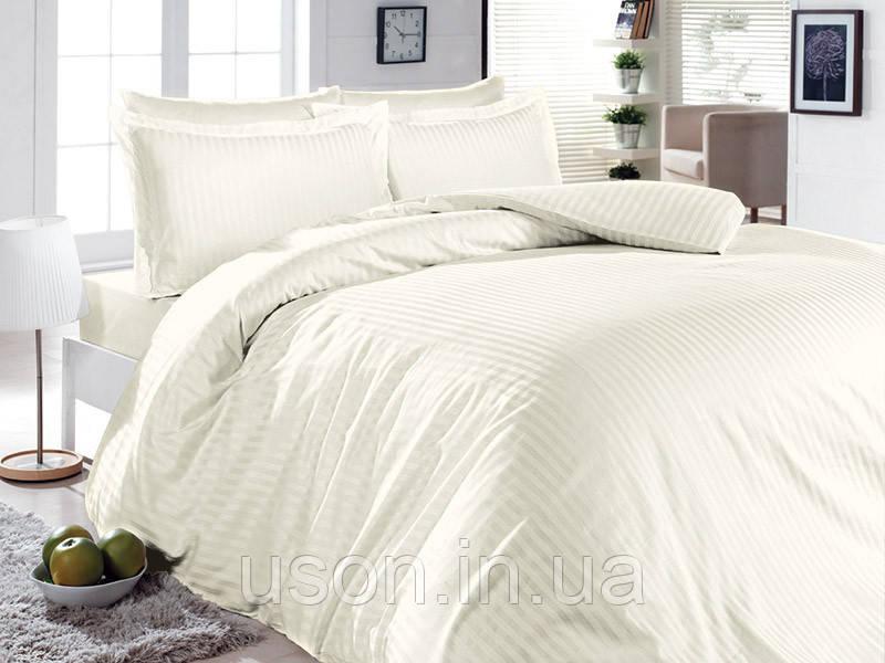 Комплект постельного белья сатин First Choice  Lines Style Krem