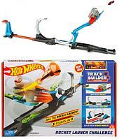 Трек Хот Вилс Запуск ракеты Hot Wheels Track Builder Rocket Launch Hot Challenge Playset