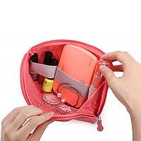 Органайзер сумка, дорожная косметичка Cable Pouch розовая, размер: 220х150х30 мм, нейлон, Органайзеры для косметики