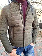 Мужская стёганая куртка парка ветровка демисезонная весна осень на синтепоне
