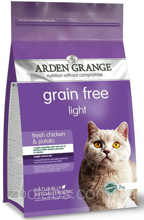 Корм Arden Grange для кошек | Arden Grange Grain Free Light Cat Fresh Chicken & Potato 8 кг