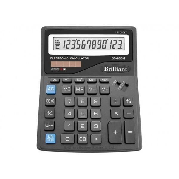 Калькулятор 12 разрядный Brilliant BS-888M