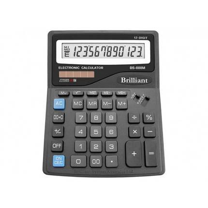 Калькулятор 12 разрядный Brilliant BS-888M, фото 2