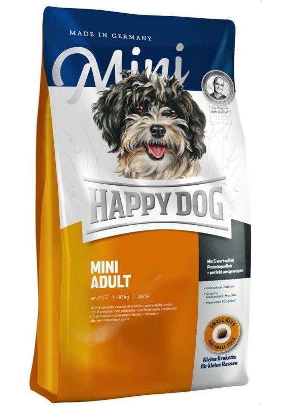 Mini Adult 4кг Корм сухой для взрослых собак малых пород Супер-премиум класс (60002, Happy Dog, Хэппи Дог)