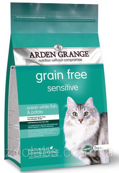 Корм Arden Grange для кішок з рибою | Arden Grange Grain Free Sensitive Cat White Fish & Potato 0,4 кг
