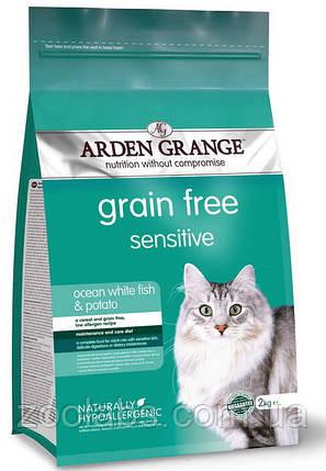 Корм Arden Grange для кішок з рибою | Arden Grange Grain Free Sensitive Cat White Fish & Potato 0,4 кг, фото 2