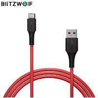 BlitzWolf BW-TC19 мощный кабель USB Type-C для супер зарядки QC3.0 и передачи данных 5A