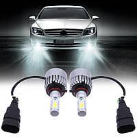 Автомобильные светодиодные лампы UKC H4 33W 5000к, 3000 люминов, Светодиодные лампы H4