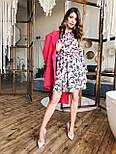 Женское платье с юбкой-солнце и цветочным принтом, фото 2