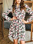 Женское платье с юбкой-солнце и цветочным принтом, фото 4