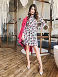 Женское платье с юбкой-солнце и цветочным принтом, фото 3