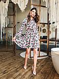 Женское платье с юбкой-солнце и цветочным принтом, фото 6