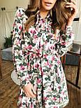 Женское платье с юбкой-солнце и цветочным принтом, фото 7