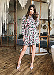 Женское платье с юбкой-солнце и цветочным принтом, фото 8