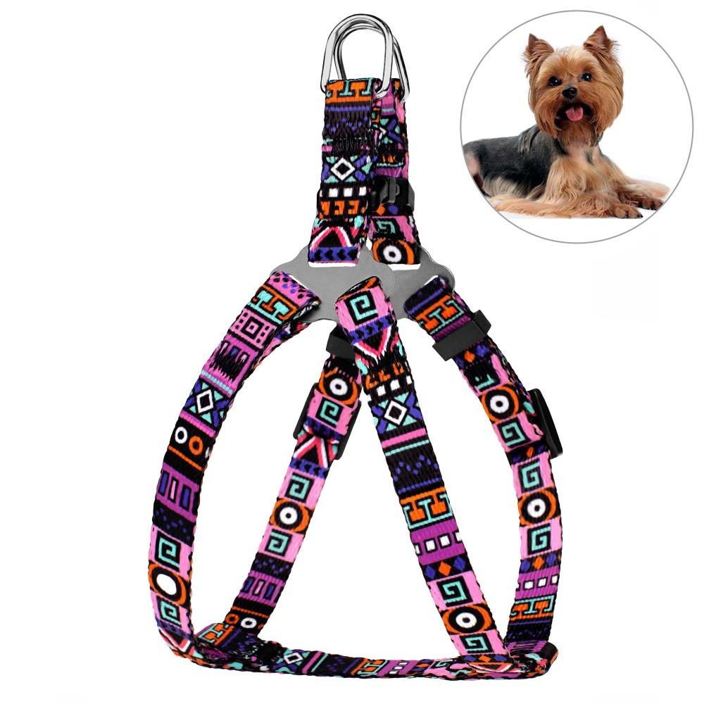 Шлея для Собак BronzeDog Urban Этническая Фиолетовая