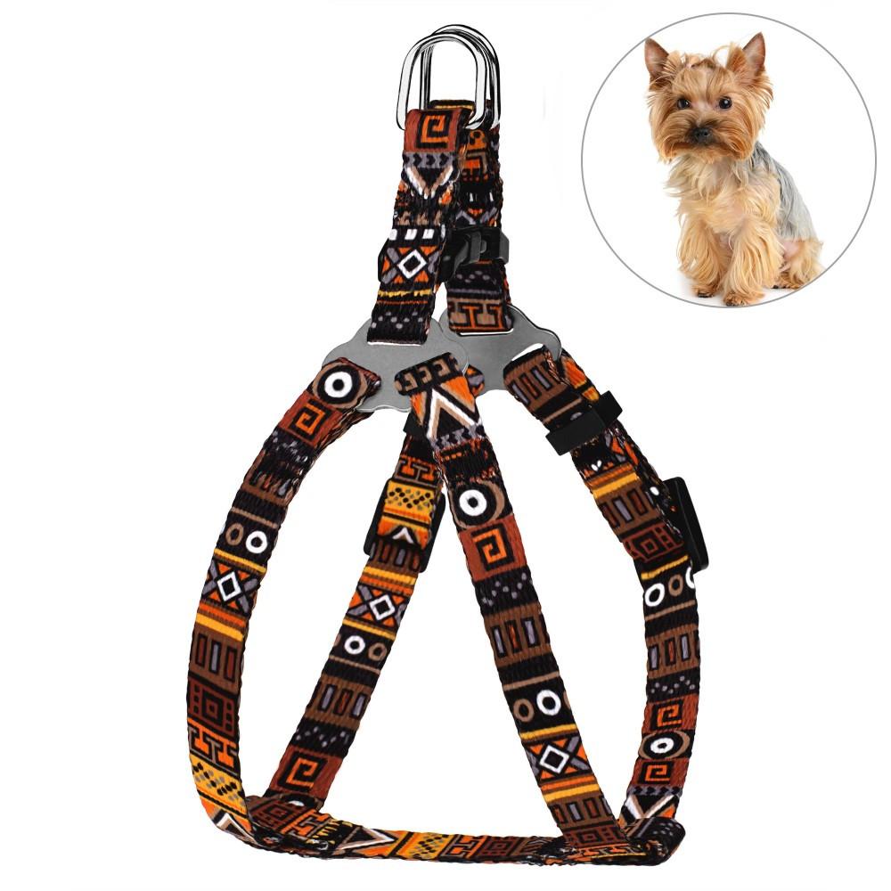 Шлея для Собак BronzeDog Urban Этническая Оранжевая