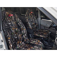 Комплект грязезащитных чехлов ORPRO на передние сиденья камуфляж (Осенний лес)