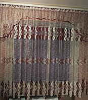 """Готовая тюль с ламбрекеном 4м ширины и 1,8м высоты """"Карина"""", фото 1"""
